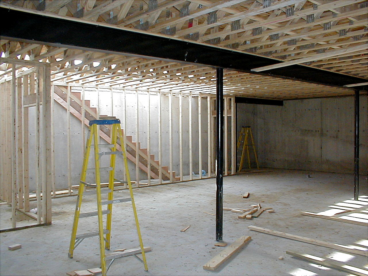 Construction services management company project photos for Insulating basement floor before pouring